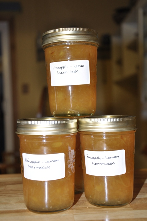 Pineapple-Lemon Marmalade